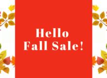 Hello Fall Sale Website